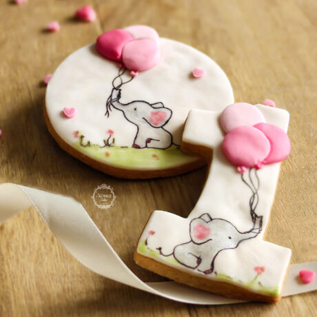 gorgeous-girls-1st-birthday-elephant-and-balloons-number-one-gift-cookies