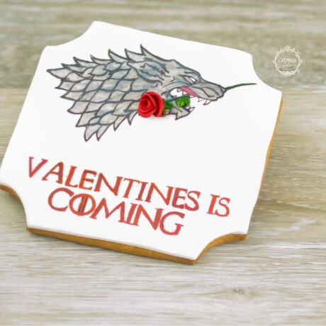 Game-of-Thrones,-House-of-Stark-decorated-cookie-by-Estrele-Cakes